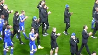Leicester City vs Burnley 2018 - Post match march around ground part 2