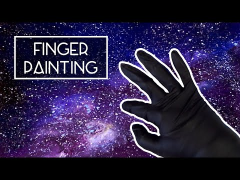 FINGER PAINTING a Galaxy | Art Challenge