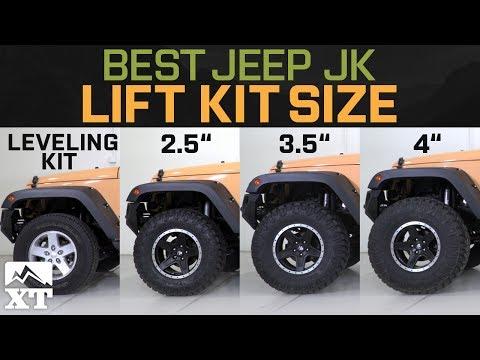 "Jeep Wrangler JK Leveling Kit vs 2.5"" vs 3.5"" vs 4"" - How To Select The Best Jeep Lift Kit"