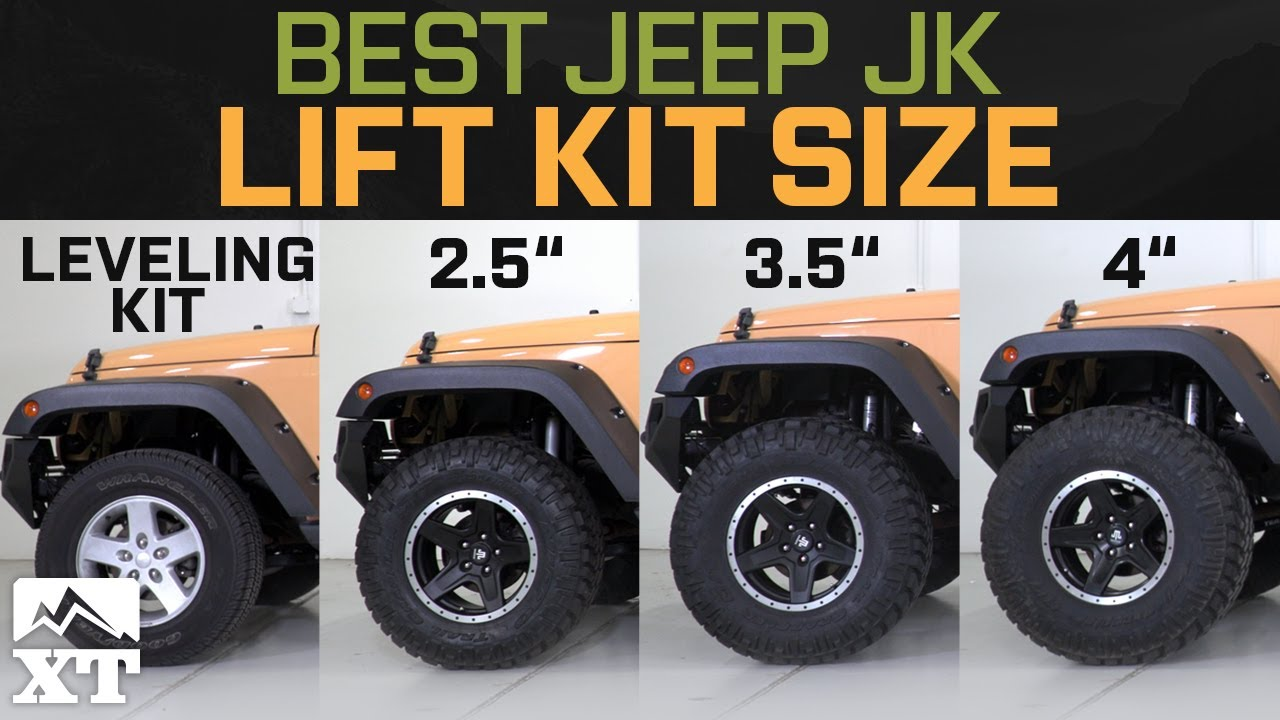 Jeep Wrangler Jk Leveling Kit Vs 2 5 Vs 3 5 Vs 4 How To Select