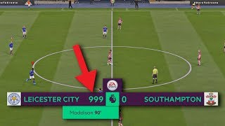 SCORING THE MOST GOALS POSSIBLE IN 1 FIFA 20 GAME!