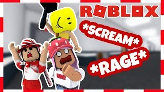 ROBLOX | SCREAMING ON FLEE (Ft. Phoeberry and DaPandaGirl)