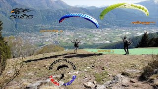 Speedflying at home with Family and Friends - Swing Spitfire 2 8.5 - Swing Mirage RS 8.5 - STT