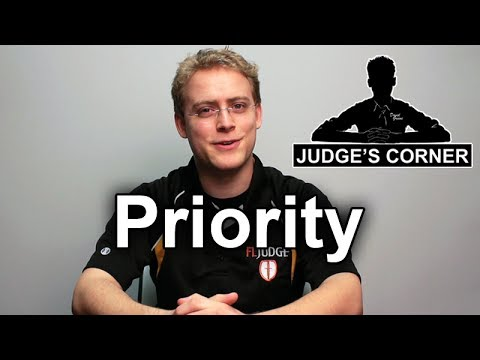 What is Priority? - Judge's Corner #6