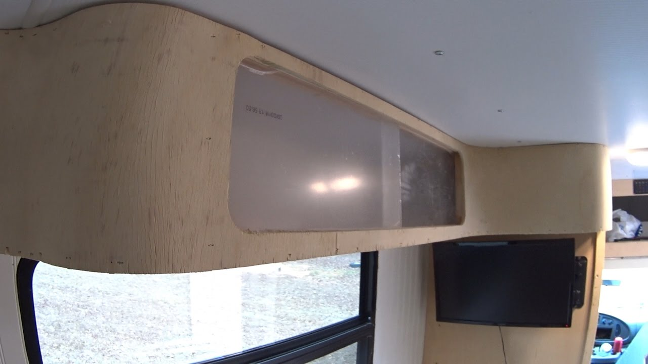 Box Truck Camper Custom Diy Curved Rv Cabinets Pt4 66 Youtube
