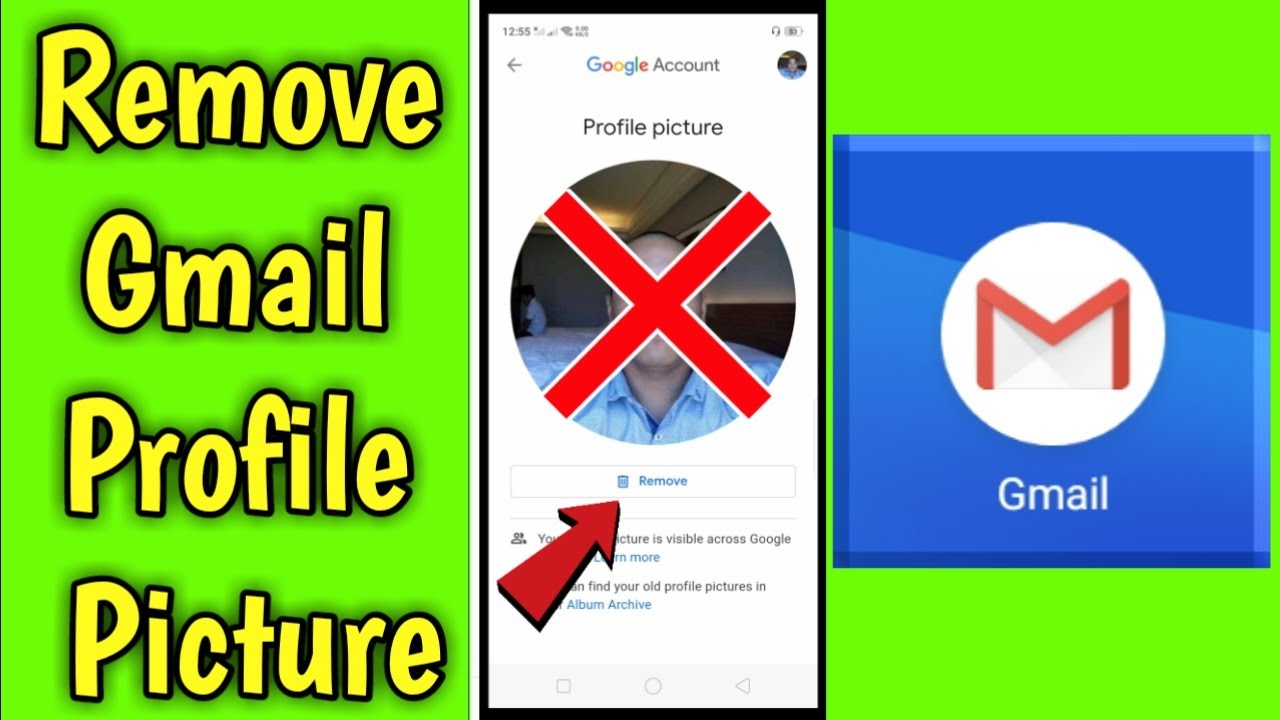 How to Remove Gmail Profile Picture in Mobile