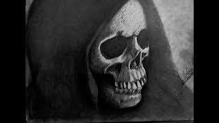 "Dibujo a lapiz ""LA MUERTE"". the reaper pencil drawing  -Molina -"