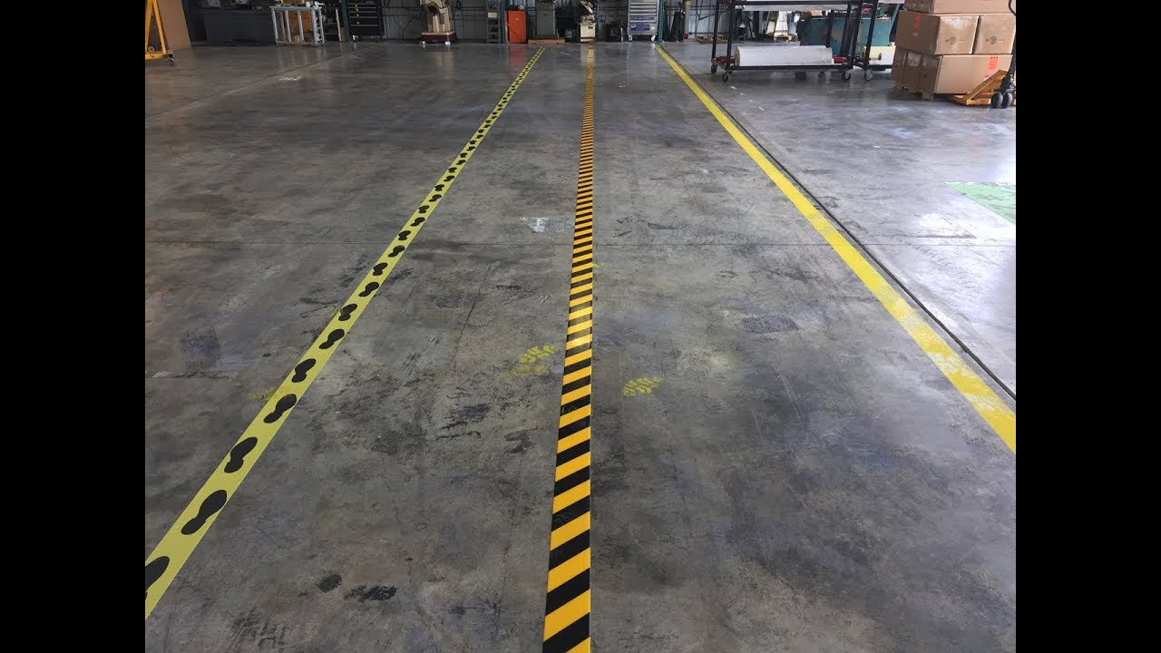 Mighty Line Floor Tape Vs Painting Install