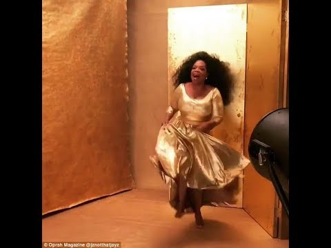 Oprah shines as she dances around for O magazine cover shoot... after speech at Golden Globes