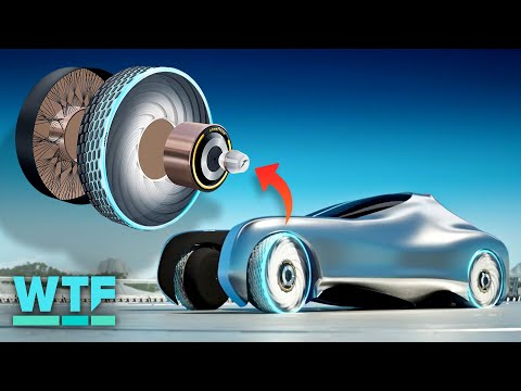 The concept tire of the future can repair itself (regenerating tire first look)