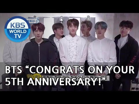 "BTS ""Congrats on your 5th anniversary!!"" [The Return of Superman/2018.11.11]"