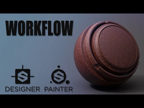 Substance Designer to Painter (Leather Material)