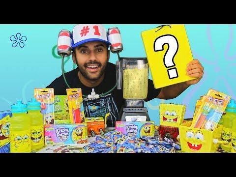 drinking-the-spongebobiest-drink-on-earth!!!-(krabby-patties-+-more)-challenge!!