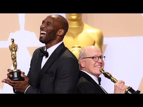 Kobe Bryant - Oscars 2018 - Best Animated Short - Full Backstage Speech