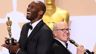 Kobe Bryant - Oscars 2018 - Best Animated Short - Full Backstage Speech