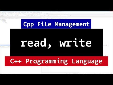 C++ Binary Files | Read, Write Methods | CPP Programming File Management Video Tutorial