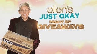 Ellen Previews Her 'Just Okay Night of Giveaways'