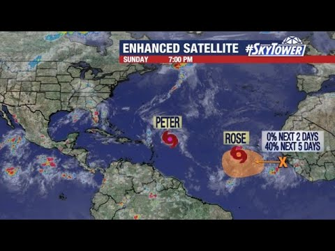 Download Tropical Storms Peter and Rose update; September 19, 2021