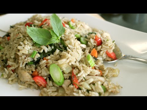 green curry fried rice recipe & video tutorial