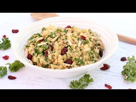 High Protein Quinoa-Kale Salad | Clean & Delicious