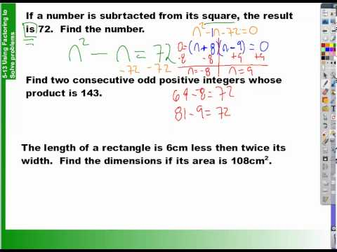 How to use factoring to solve problems 5 13 part 1