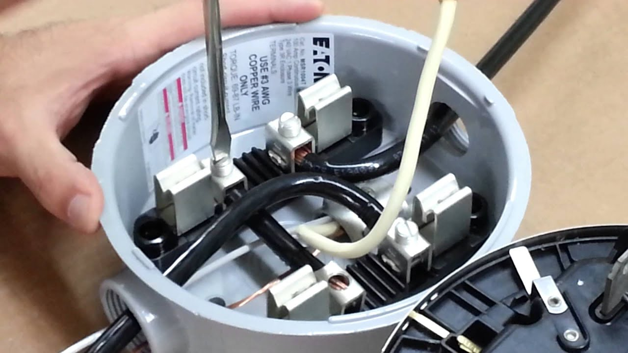 Hialeah Meter Co. Wiring Diagram for 120V 2 Wire Service using 2S 3 Wire Electric Meter - YouTube & Hialeah Meter Co. Wiring Diagram for 120V 2 Wire Service using 2S ...