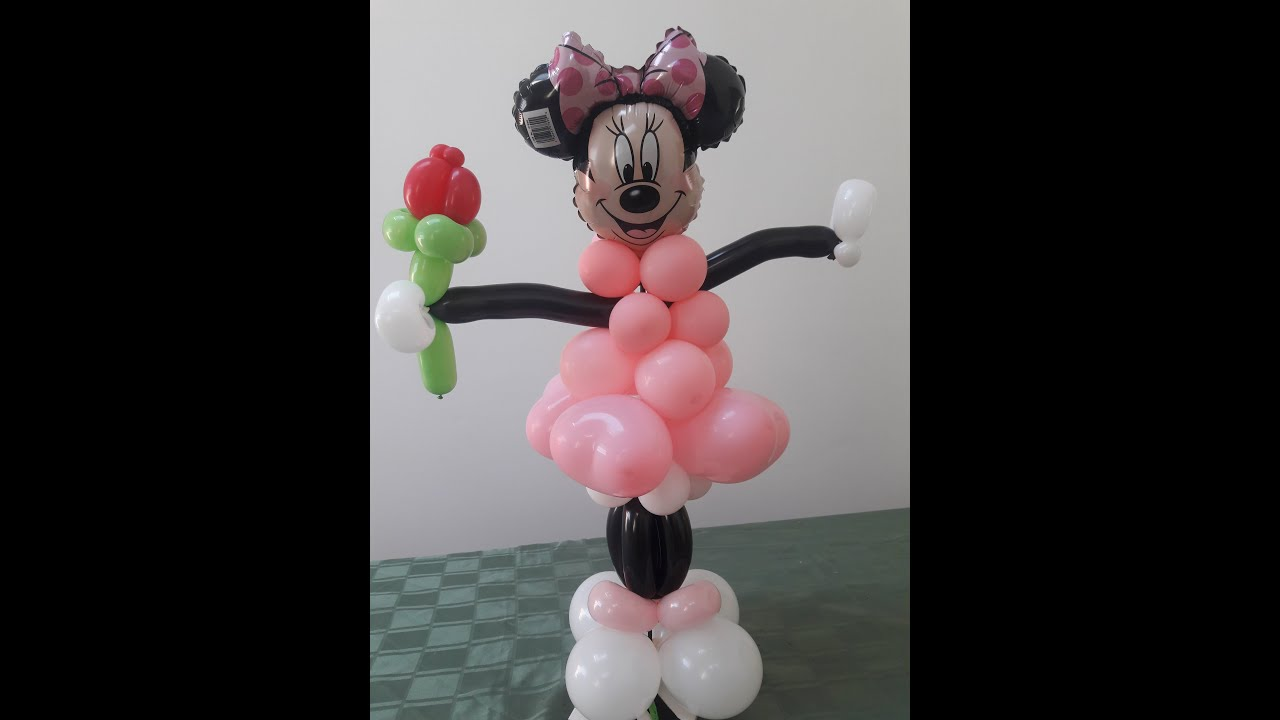 Easy minnie mouse balloon decoration how to make a simple