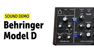 Behringer Model D Sound Demo (no talking)