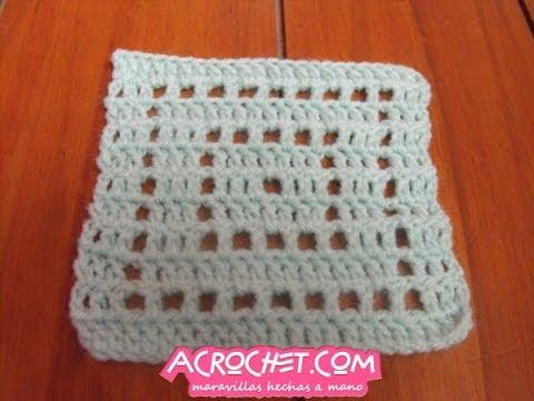 Tejiendo un cuadrado sin fin en crochet y con la tecnica del tejido ...