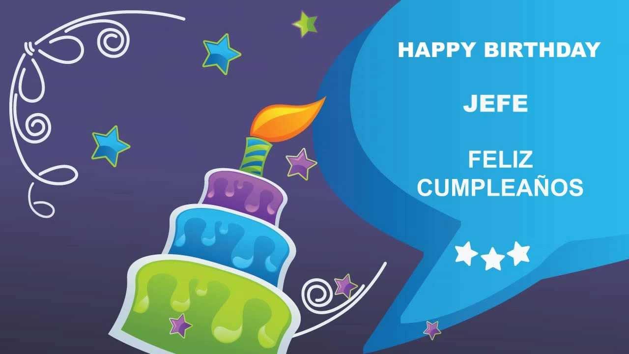 Jefe card tarjeta happy birthday youtube