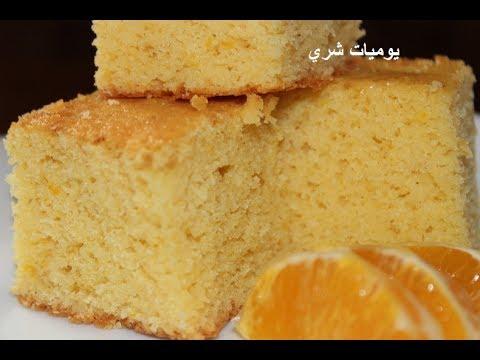 يوميات شري طريقة عمل كيك الذره بالبرتقال البسيسه