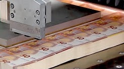 Amazing money production process. World's most powerful money USD, EURO production technology