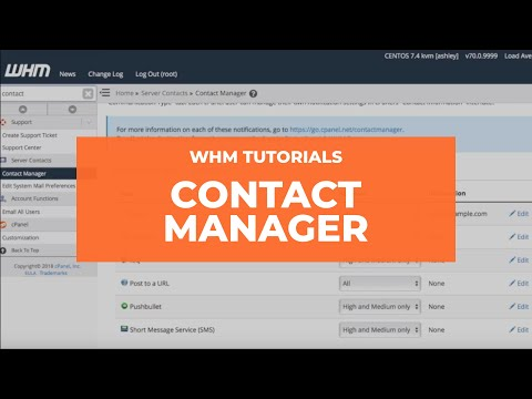 cPanel Tutorial - WHM Contact Manager
