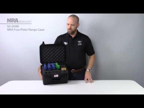 NRA Four Pistol Range Case