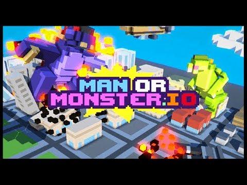 GIANT MONSTER & ROBOT DESTROYS ENTIRE CITY! - ManOrMonster.io [ManOrMonster.io Gameplay]