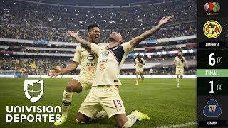 América 6-1 Pumas - GOLES Y RESUMEN - Semifinal - Partido de Vuelta - Liga MX