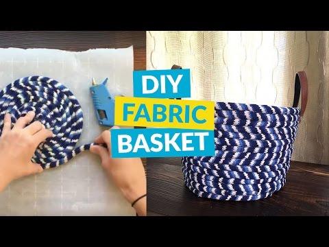 No Sew Fabric Basket