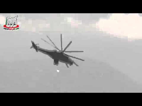 Helicopters mi-35 Russian In Syria 2016 (frightening)