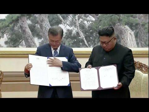 """Coreias caminham para uma paz """"livre da ameaça nuclear"""""""