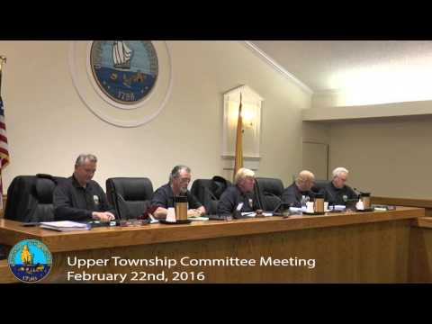 Upper Township Committee Meeting 2/22/16
