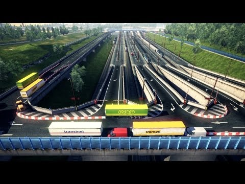 Euro Truck Simulator 2 | New Harder Train Station Map v1.0 | Dover - Calais | Patch 1.3.1 |