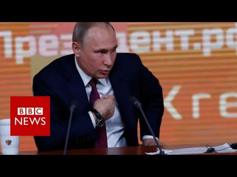 Putin: Trump opponents harm US with 'invented' Russia scandal - BBC News