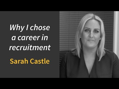 'Why I chose a career in recruitment....'