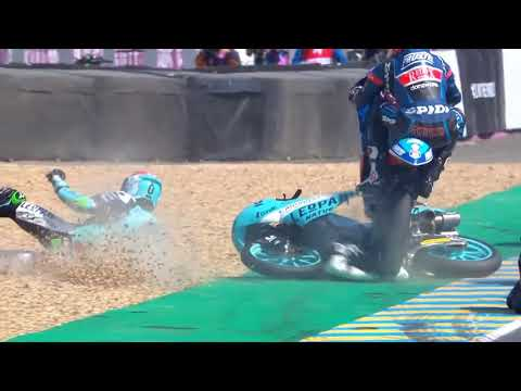Irohazaka jump but it's at LeMans with a Moto3