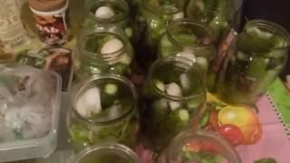 Мариную огурцы. Рецепт вкусных и хрустящих огурчиков на зиму!