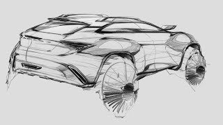 How to sketch a car(SUV Rear)