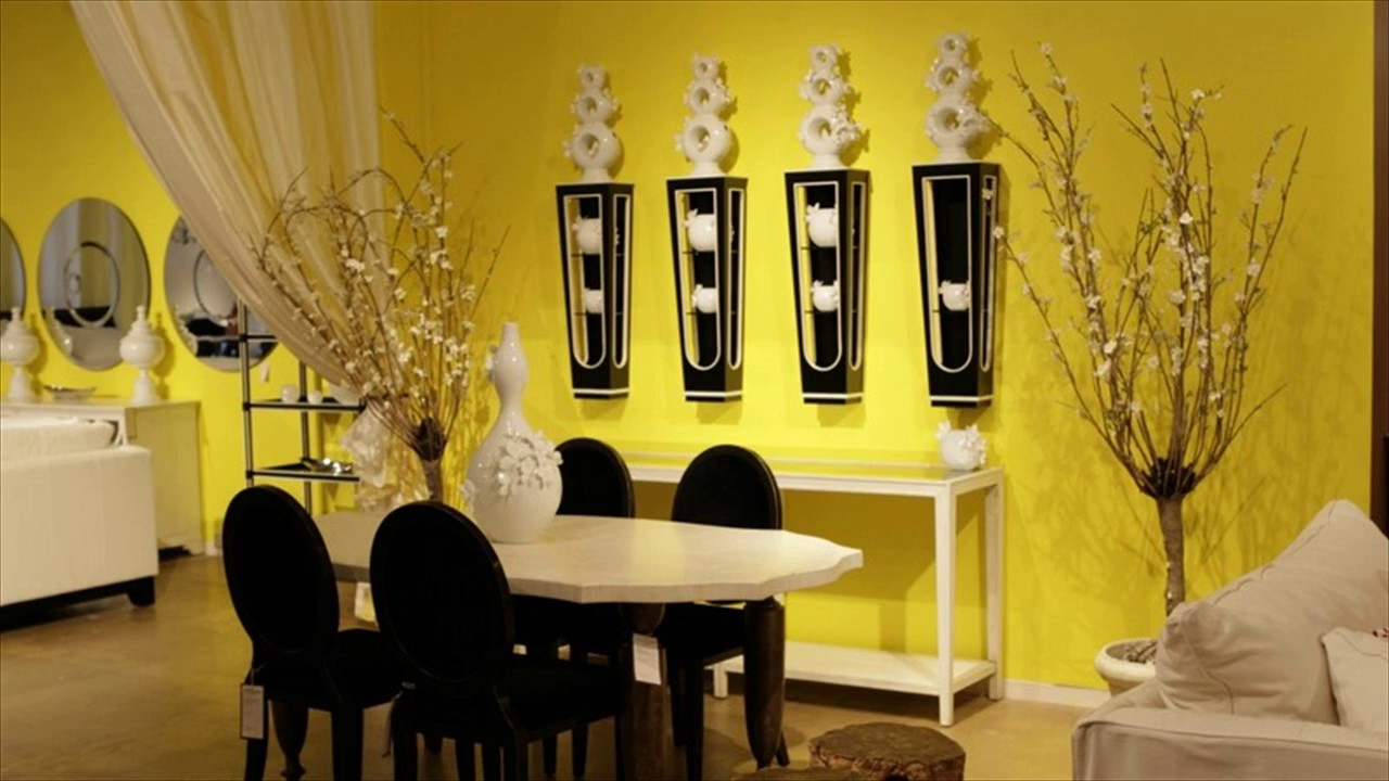 Decorating with Yellow Colour Room ... - YouTube