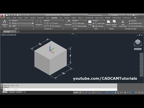 AutoCAD 3D Dimensioning Tutorial | AutoCAD 3D Dimension in Z Axis | AutoCAD 3D Tips and Tricks