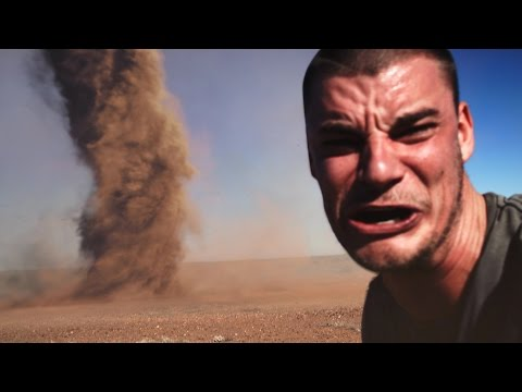 Crazy Guy Runs Into Outback Tornado To Take Selfie