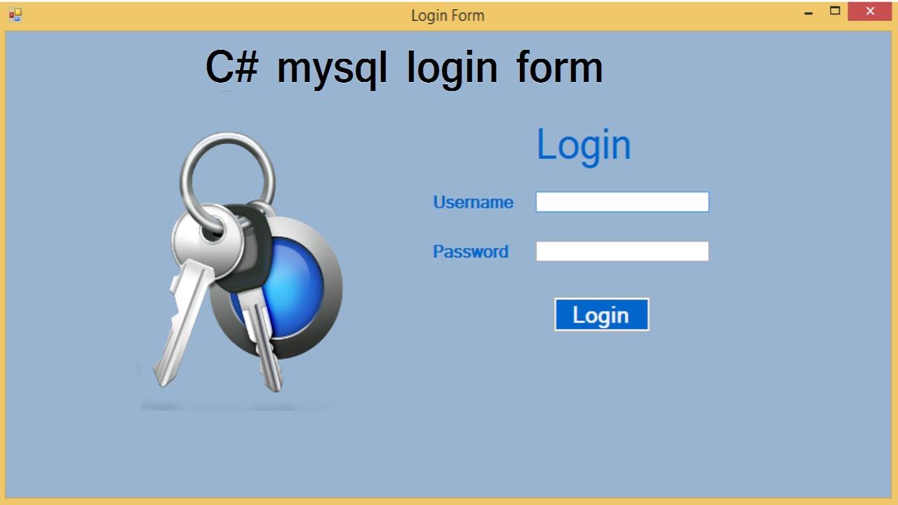 c# mysql login form - YouTube
